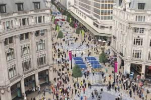 Pedestrianised Oxford Street