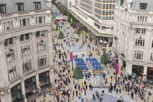 Pedestrianised Oxford Street