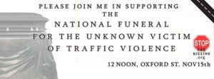 Funeral for the unknown victim of traffic violence